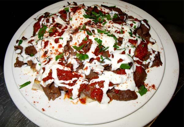 Freshly prepared Turkish food